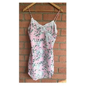 Victoria's Secret Pink Slip Dress   Floral   Small